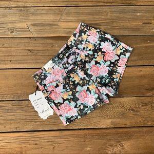 Pants - GORGEOUS Denim Floral Shorts